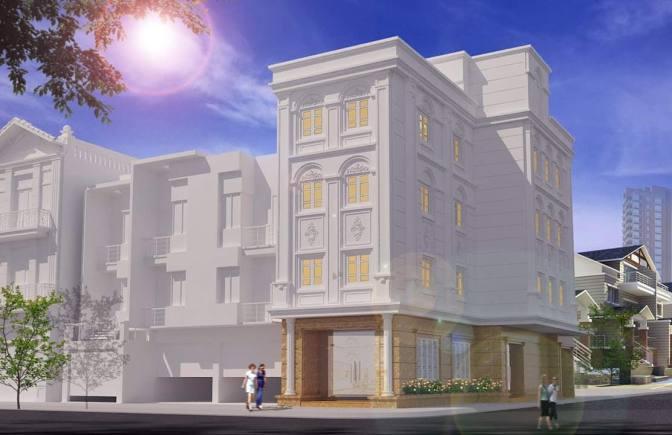 mẫu nhà 2 tầng đẹp xây trọn gói 4 triệu /m2